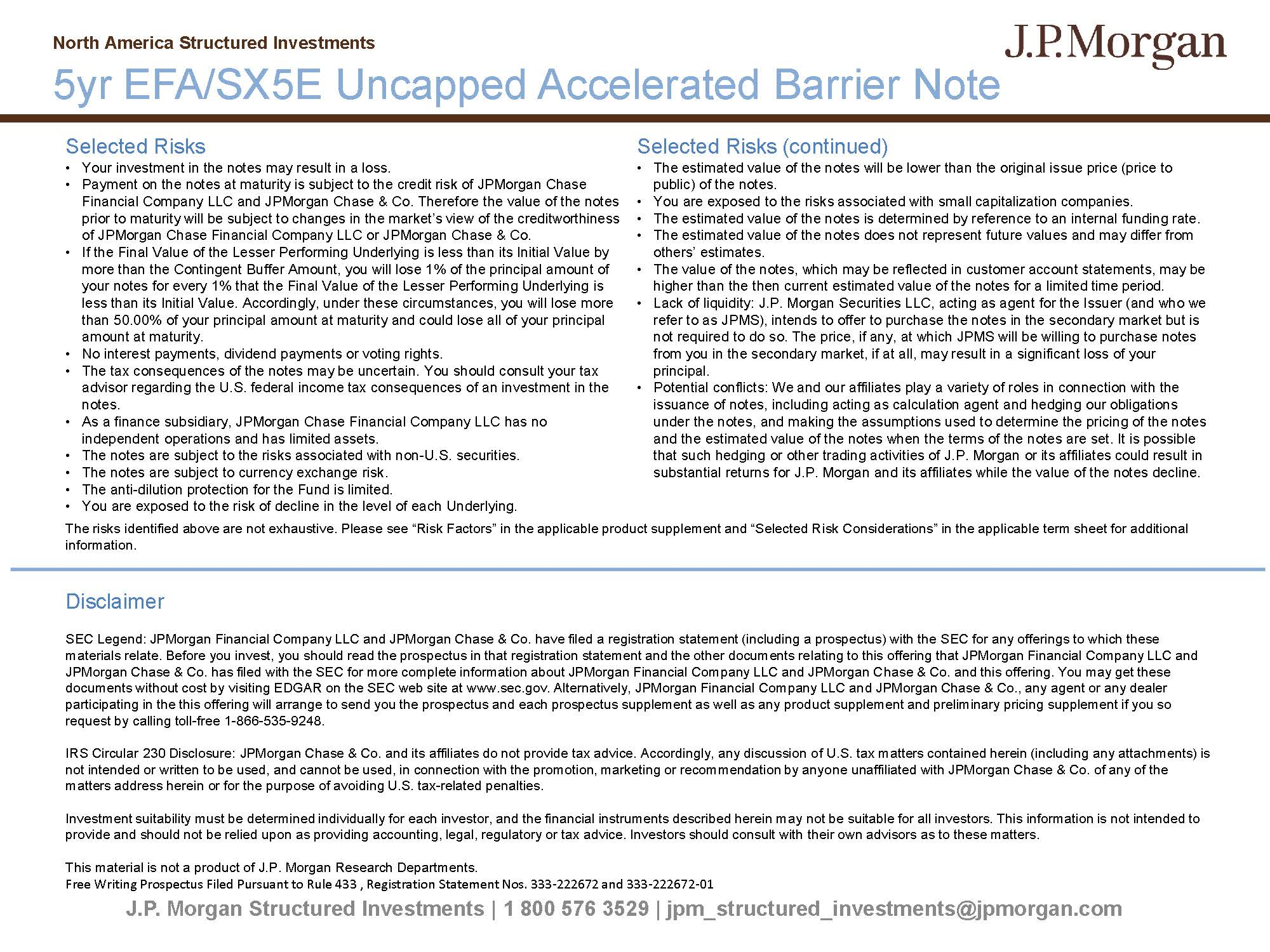 JPMorgan Chase Financial Co  LLC Form FWP Filed 2018-12-11