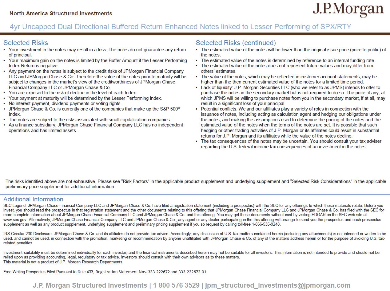 JPMorgan Chase Financial Co  LLC Form FWP Filed 2018-09-27