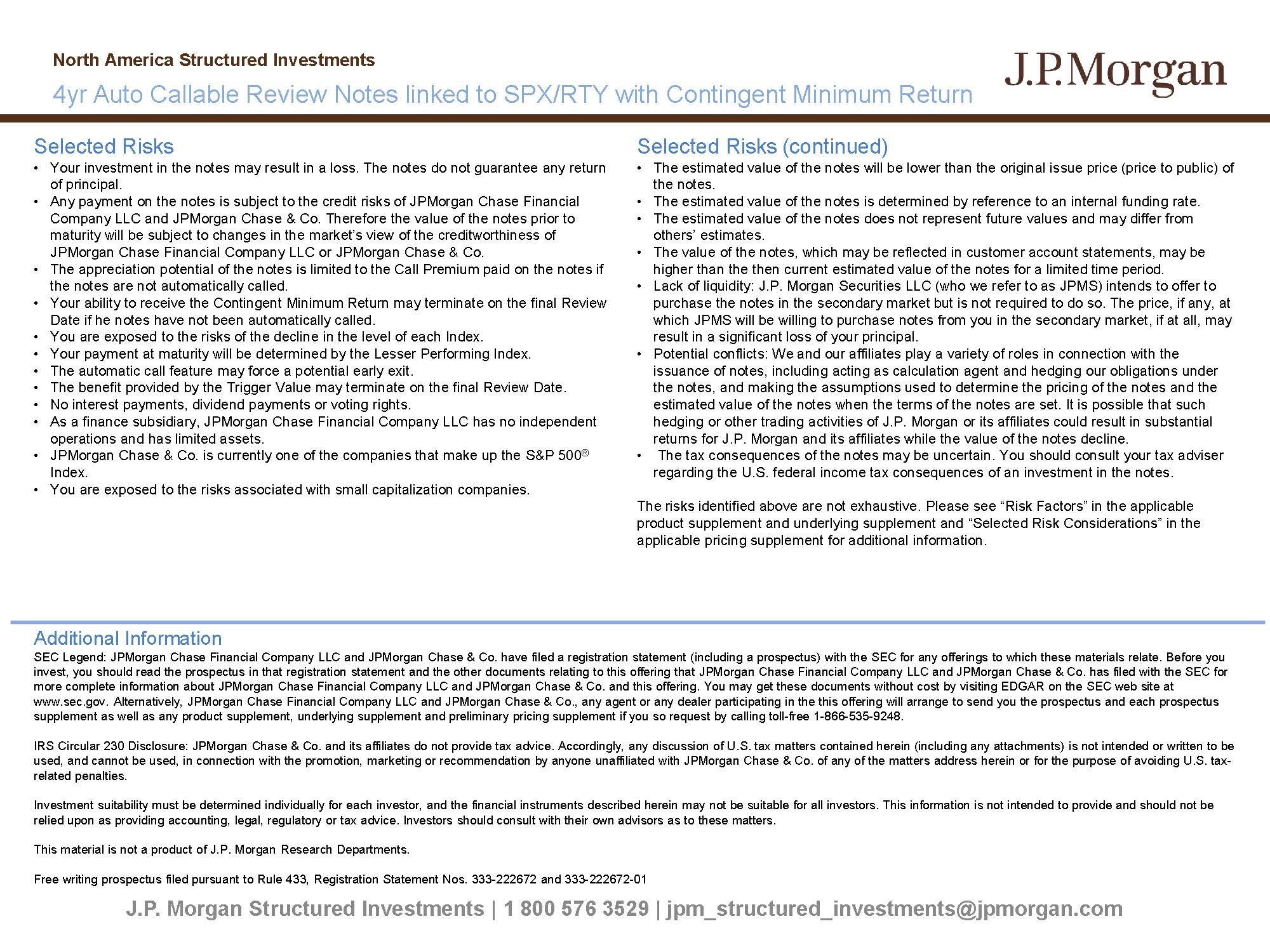 JPMORGAN CHASE & CO Form FWP Filed 2019-06-14