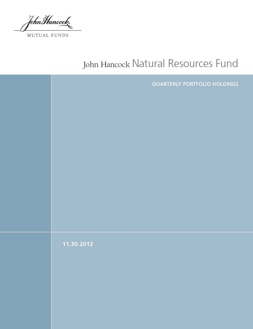 John Hancock Funds II Form N-Q Filed 2013-01-29
